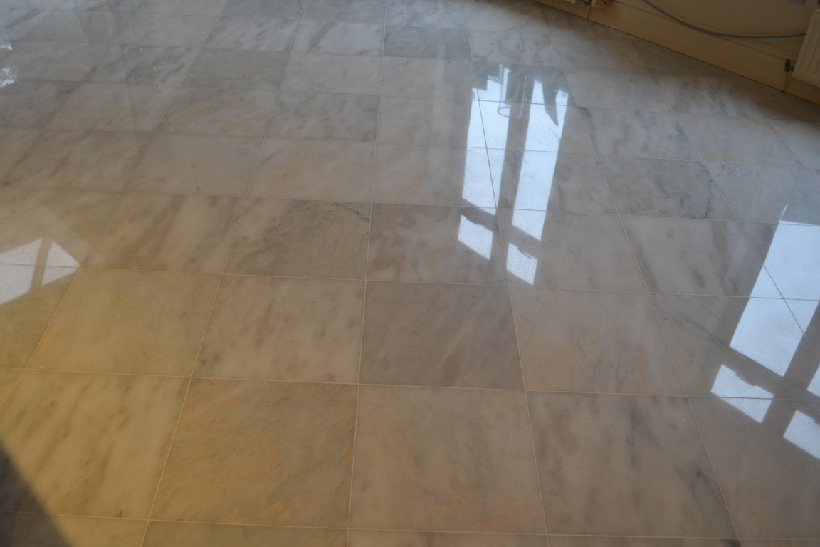 Marble floor restoration devon southwest uk floor grinding and polishing powder polishing cleaning for Bathroom floors without grout