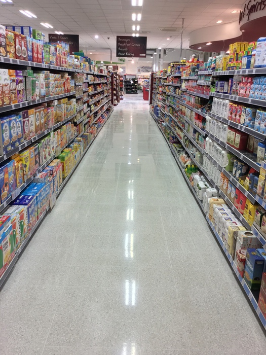 Terrazzo Floors Restoration Specialist In Supermarkets Tesco