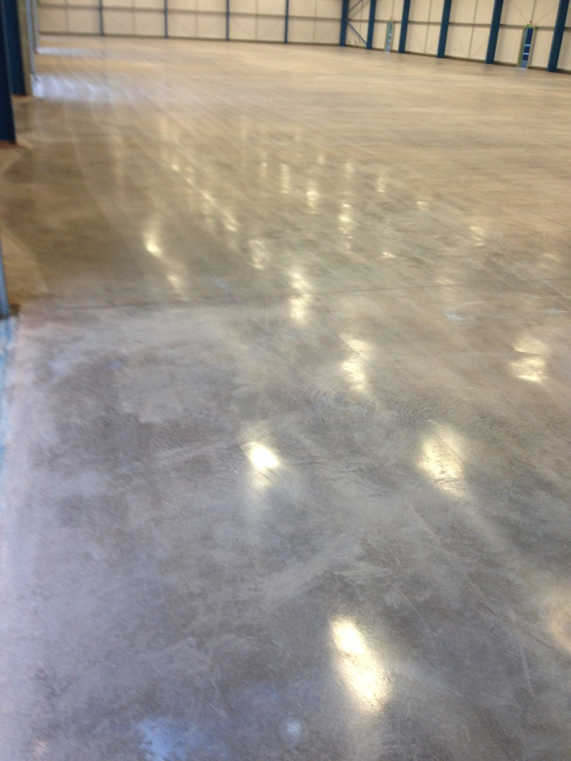 Floated Concrete Floors Installed