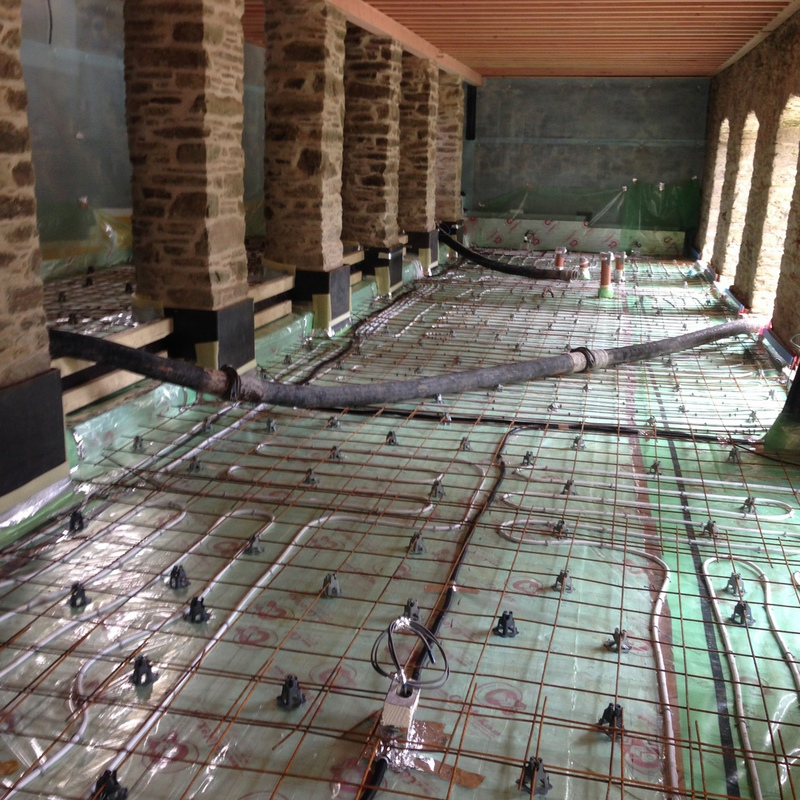 A New Installation Being Prepared For Concreting We Take The Floor On From Under Heating Stage Install Reinforced Steel And Chairs Then