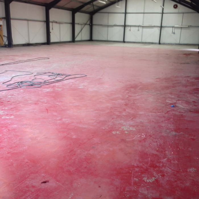 500 Sq Mtrs Of Floor Paint Removal And Repairs